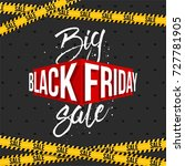 abstract vector black friday... | Shutterstock .eps vector #727781905