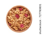 homemade granola with dried... | Shutterstock . vector #727783831