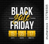 abstract vector black friday... | Shutterstock .eps vector #727785505
