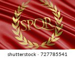 roman empire flag | Shutterstock . vector #727785541