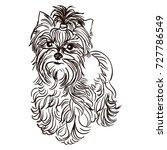vector black and white... | Shutterstock .eps vector #727786549