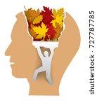 psychology dementia depression... | Shutterstock .eps vector #727787785
