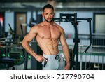 young athlete posing with a... | Shutterstock . vector #727790704