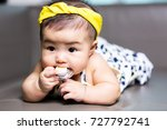 cute happy asian baby sucking... | Shutterstock . vector #727792741
