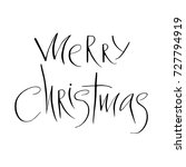 lettering with merry christmas. ... | Shutterstock .eps vector #727794919