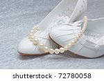 Wedding Shoes With Pearls On...