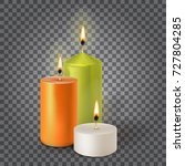 3d set realistic paraffin... | Shutterstock .eps vector #727804285