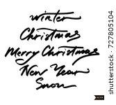 winter text lettering for... | Shutterstock .eps vector #727805104