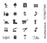 garden icons. vector garden...   Shutterstock .eps vector #727807789