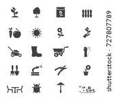 garden icons | Shutterstock .eps vector #727807789