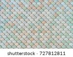 architectural mesh detail with... | Shutterstock . vector #727812811