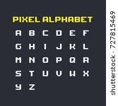 set of pixel art retro latin... | Shutterstock .eps vector #727815469