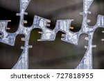 close up of forged metal fence | Shutterstock . vector #727818955