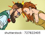 man vs woman  confrontation and ... | Shutterstock .eps vector #727822405