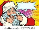 surprised reaction. santa claus ... | Shutterstock .eps vector #727822585