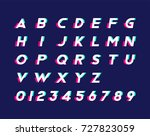 alphabet with numbers and... | Shutterstock .eps vector #727823059