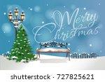 christmas greeting background... | Shutterstock .eps vector #727825621