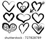 illustration of set of black... | Shutterstock .eps vector #727828789