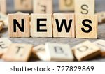 news word made with wooden... | Shutterstock . vector #727829869