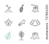 forestry linear icons set. pine ... | Shutterstock . vector #727831201