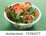 healthy green salad  with... | Shutterstock . vector #72783277