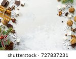 ingredients for christmas... | Shutterstock . vector #727837231