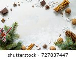 ingredients for christmas... | Shutterstock . vector #727837447