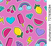 cute seamless pattern with... | Shutterstock .eps vector #727838284