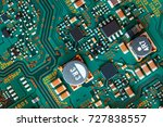 electronic circuit board close... | Shutterstock . vector #727838557