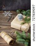 christmas gift box. christmas... | Shutterstock . vector #727839097