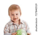 happy baby boy smiling at... | Shutterstock . vector #727840519