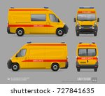 yellow ambulance resuscitation... | Shutterstock .eps vector #727841635