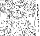 seamless mehndi vector pattern. ... | Shutterstock .eps vector #727843375