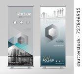 business roll up design... | Shutterstock .eps vector #727846915