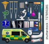 medical equipment set.... | Shutterstock .eps vector #727850281