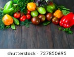 green and red color vegetables ... | Shutterstock . vector #727850695
