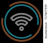 simple wifi thin line icon.... | Shutterstock .eps vector #727857559