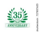 35 years anniversary logo... | Shutterstock .eps vector #727857655