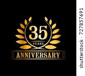 35 years anniversary logo... | Shutterstock .eps vector #727857691