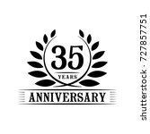 35 years anniversary logo... | Shutterstock .eps vector #727857751