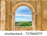 italian view through the arch... | Shutterstock . vector #727860079