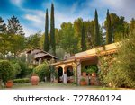 traditional italian villa with... | Shutterstock . vector #727860124