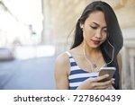 listening to music | Shutterstock . vector #727860439