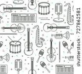 music pattern  seamless vector... | Shutterstock .eps vector #727862581