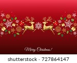 christmas colorful  decoration. ... | Shutterstock .eps vector #727864147