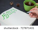 writing plans for new year my... | Shutterstock . vector #727871431