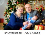 happy grandmother and... | Shutterstock . vector #727872655