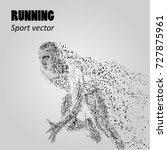 silhouette of a running man... | Shutterstock .eps vector #727875961