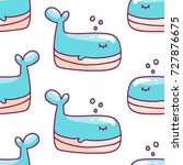 cute background with cartoon... | Shutterstock .eps vector #727876675