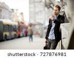 caucasian businessman waiting... | Shutterstock . vector #727876981
